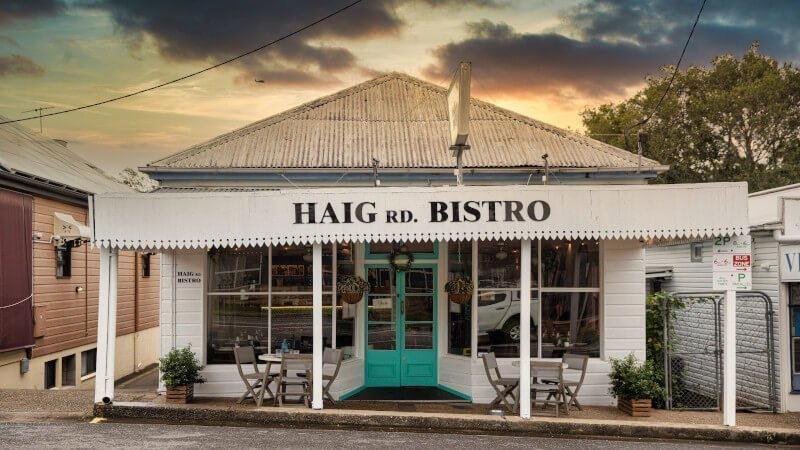 View of Haig Rd Bistro from the street